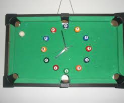 diy pool table wall clock 10 steps
