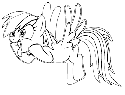funny rainbow dash coloring pages coloringstar