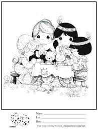 pilgrim and indian coloring pages thanksgiving chuckbutt com