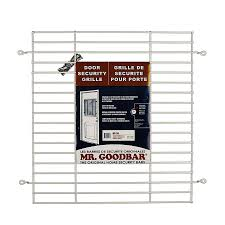 home window security bars shop mr goodbar 27 in x 24 in white back door grille window