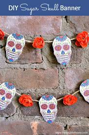 DIY Sugar Skull Banner with Free Printable and Tutorial