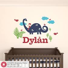 Nursery Name Wall Decals by Brontosaurus Dinosaur Boy Rider Name Wall Decal Graphic Spaces