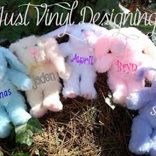 personalized easter bunnies personalized tumbler glitter bottles from justvinyldesigning on