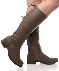 lace up biker boots ladies womens ladies low heel flat biker lace up military zip wide calf