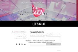 the event ninjas event planning design agency contact