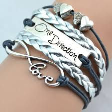 vintage infinity bracelet images Infinity bracelets weave leather bracelet one direction love jpg