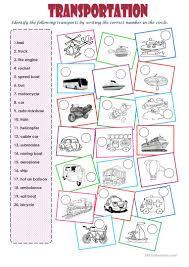 79 free esl transportation worksheets