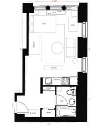 Small Apartment Layout Nyc 350 Sqft Studio Apartment Layout Person Needs Very Little
