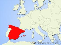 spain on a map where is spain located on the map