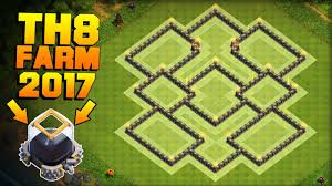 coc layout builder th8 clash of clans best th8 farming base 2017 proof coc dark