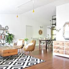 Eclectic Home Decor Lapplejung Ruta Rug Eclectic Home Open Floor Plan