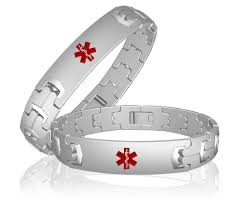 allergies to titanium titanium id bracelet for men s diabetes allergies