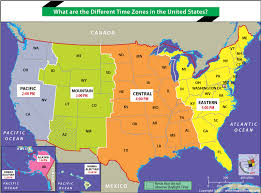 united states map with time zones and area codes what are the different times zones in the united states answers