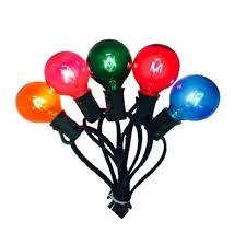 g40 string lights multi colored bulbs 25ft string