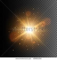 glow lights glow light effect burst sparkles stock vector 489663394