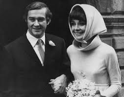 audrey hepburn and husband andrea dotti on their wedding day in