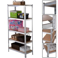 steel storage shelves amazon com 5 level shelves storage organizer heavy duty shelf