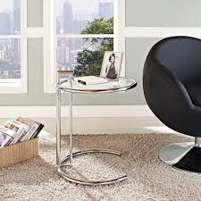 modern glass side table modern glass and chrome side table eileen