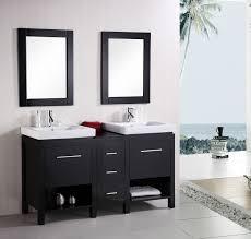 design element new york double 60 6 inch modern bathroom vanity