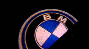 bmw logo e60 bmw logo projector puddle lights youtube