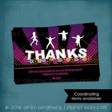 trampoline invitations thank you note jump trampoline or bounce house birthday party
