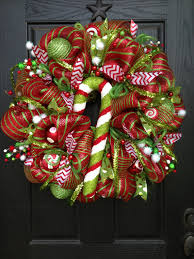 christmas mesh wreaths jolly christmas mesh wreath by glitzywreaths on etsy 110 00