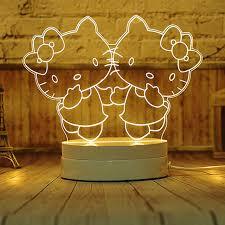usb cat night light led3d three dimensional luminous led night l usb night l