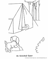pet dog coloring pages free printable pet dog campout