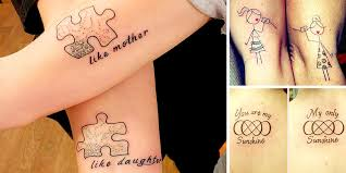 cute and endearing examples of mother daughter tattoos