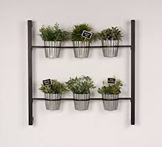 Hanging Wall Planters Amazon Com Kate And Laurel Groves Indoor Vertical Herb Garden