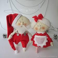 Santa Claus Dolls Handmade - mr mrs claus dolls shop on livemaster with