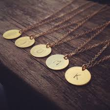custom necklace charms 2018 initial necklace personalized discs charm custom letter