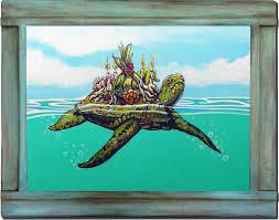the hawaiian green sea turtle or honu