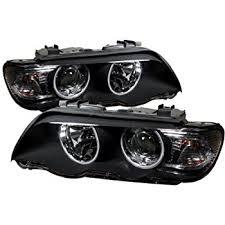 bmw x5 headlights amazon com sppc projector headlights halo black for bmw x5 e53