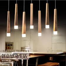 lighting for kitchen island lukloy wood stick pendant l lights kitchen island living room