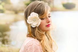 hair flower ivory bridal flower ivory wedding flower ivory magnolia wedding