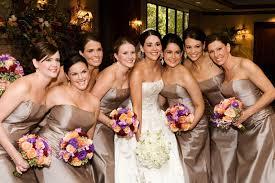 brides bridesmaids photos classic taupe bridesmaid dresses