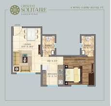 2 bedroom premium apartment at crescent solitaire andheri