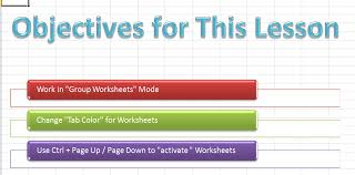 how to work with excel worksheets in an excel workbook