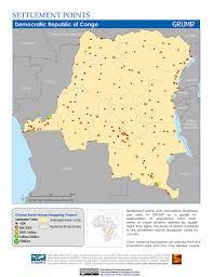 Republic Of Congo Map Maps Global Rural Urban Mapping Project Grump V1 Sedac