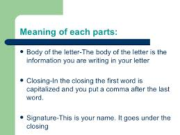 Letter Meaning In 5 parts of the letter