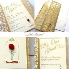 beauty and the beast wedding invitations invitaciones para tus quinces que te convertirán en una princesa