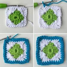 how to join crochet squares completely flat zipper method bobble square hook case zippered lining and cushion pattern