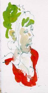 double complementary color scheme portrait sketch chris carter