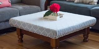 Diy Ottoman Coffee Table How To Turn Your Coffee Table Into A Stylish Ottoman This