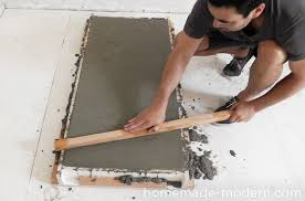 How To Build A Concrete Bar Top Homemade Modern Ep38 Wood Concrete Kitchen Island