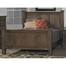 driftwood brown classic queen size bed amish rc willey