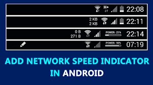 android bar to add network speed indicator in android status bar