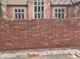 garden wall building brick garden walls garden wall repairs