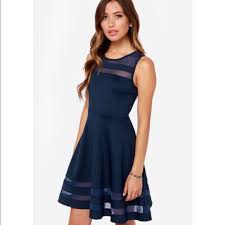 55 off lulu u0027s dresses u0026 skirts navy blue skater dress with